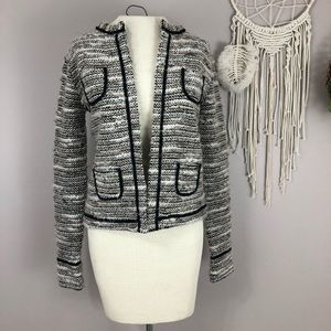 Loft black white gold career blazer XS w/ pockets